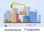 building work process with... | Shutterstock .eps vector #775385494