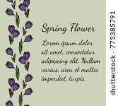 seamless vertical floral... | Shutterstock .eps vector #775385791