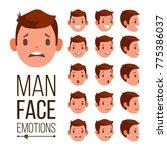 man emotions vector. different... | Shutterstock .eps vector #775386037
