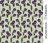 floral seamless pattern.... | Shutterstock .eps vector #775386091