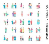 flat icon family set    Shutterstock .eps vector #775386721