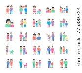 set of family flat icon  | Shutterstock .eps vector #775386724