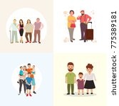vector illustration of family... | Shutterstock .eps vector #775389181