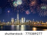 new york city skyline with... | Shutterstock . vector #775389277