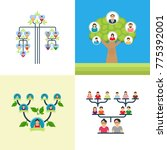 family tree vector... | Shutterstock .eps vector #775392001