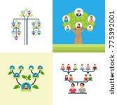 family tree vector... | Shutterstock .eps vector #775392001