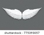 realistic elegant white angel... | Shutterstock .eps vector #775393057