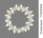 garland in form of circle with... | Shutterstock .eps vector #775395469