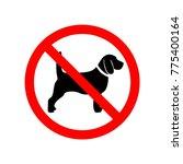 dog prohibition sign | Shutterstock .eps vector #775400164