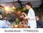 beautiful caucasian smiling... | Shutterstock . vector #775402231