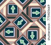 seamless abstract pattern with... | Shutterstock .eps vector #775405669