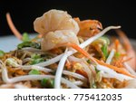 pad thai with shrimp  rice... | Shutterstock . vector #775412035