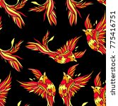 phoenix vector illustration.... | Shutterstock .eps vector #775416751