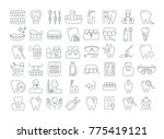 vector graphic set. icons in... | Shutterstock .eps vector #775419121