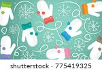 christmas ornament of mittens... | Shutterstock .eps vector #775419325