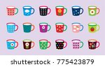 beautiful coffee cup... | Shutterstock .eps vector #775423879