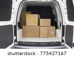 view of the cargo area of light ... | Shutterstock . vector #775427167