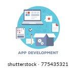 vector color illustration of... | Shutterstock .eps vector #775435321