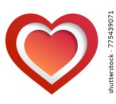 colorful heart vector graphic... | Shutterstock .eps vector #775439071