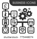 Business Icons Set And Symbols...