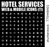 hotel icons set | Shutterstock .eps vector #775448401