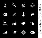 internet marketing icons   seo  ... | Shutterstock .eps vector #775448479