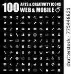 art icons set | Shutterstock .eps vector #775448821