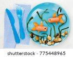 food art for kids underwater... | Shutterstock . vector #775448965