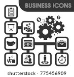 business outline icons set and... | Shutterstock .eps vector #775456909
