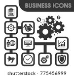 business icons set and symbols... | Shutterstock .eps vector #775456999