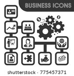 business icons set and symbols... | Shutterstock .eps vector #775457371