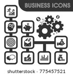business icons set and symbols... | Shutterstock .eps vector #775457521
