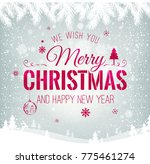 merry christmas and new year... | Shutterstock .eps vector #775461274