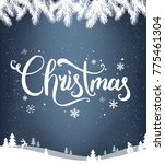 christmas typographical on dark ... | Shutterstock .eps vector #775461304