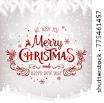 merry christmas and new year... | Shutterstock .eps vector #775461457