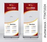 roll up sale banner design... | Shutterstock .eps vector #775471024