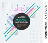modern abstract circle... | Shutterstock .eps vector #775472047