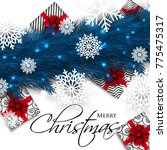 merry christmas party...   Shutterstock .eps vector #775475317