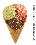 ice cream 3 scoop | Shutterstock . vector #775477891