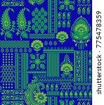 seamless traditional design | Shutterstock . vector #775478359