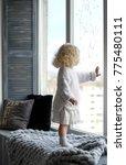 cute little baby curl girl ... | Shutterstock . vector #775480111