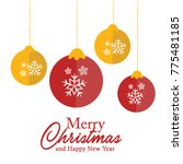 christmas and new year... | Shutterstock .eps vector #775481185