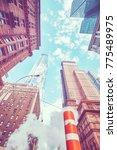 looking up in new york city ... | Shutterstock . vector #775489975