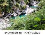 gushing pure blue waters of...   Shutterstock . vector #775496029