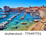 Bay With Boats In Dubrovnik. A...