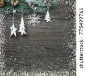 christmas and new year's... | Shutterstock . vector #775499761