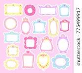 cute colorful frames set.... | Shutterstock .eps vector #775499917