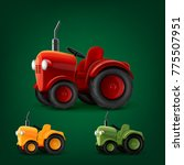 tractor set icons | Shutterstock .eps vector #775507951