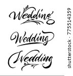 wedding calligraphy handwriting ... | Shutterstock .eps vector #775514359