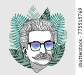 hipster portrait of composer...   Shutterstock .eps vector #775515769